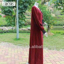 Bright Red Muslim Dresses 2014 with Custom Design