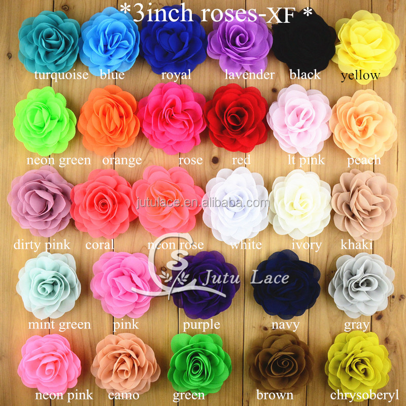 high quality rose chiffon fabric flowers - popular handmade decorative flowers wholesale