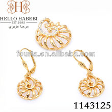 2015 New Design gold plated indian fashion jewelry set