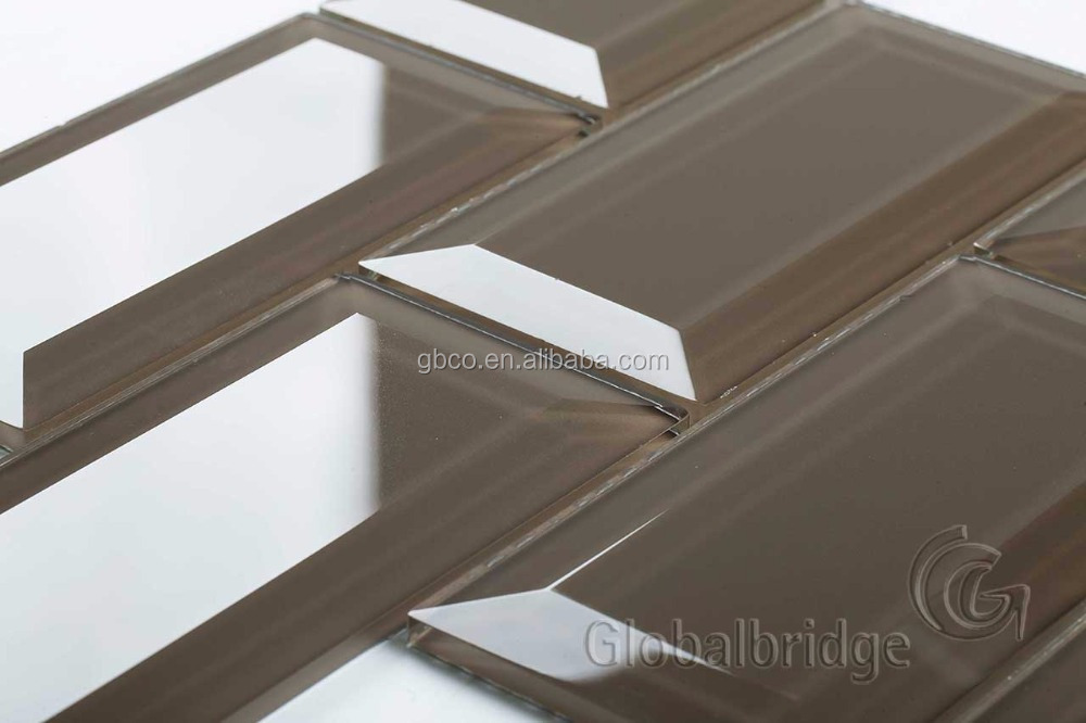 bevel subway wall glass tiles for kitchen and bathroom