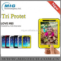 LOVE MEI Powerful AL metal Phone accessories for ipad mini cover , Shockproof Waterproof Rugged Gorilla 6 colors optional
