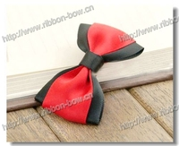 MSD Beautiful red hair bow clip for girls, adult hair bow