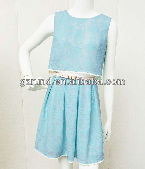 2015 The new spring clothing temperament lady OL lace spell dress