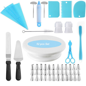 Cake Decorating Supplies Kit 52 pcs set baking supplies set including cake stand icing piping bag tips