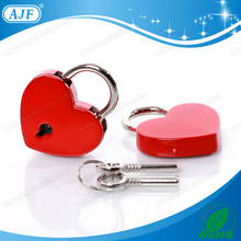 AJF newest wedding red lock colorful cute padlock