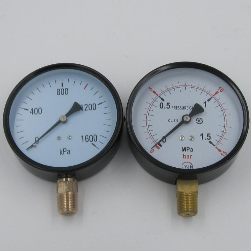 pressure gauge manometer with brass connector