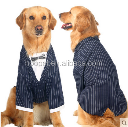 Large Dog Clothes Dog Striped Knot Suit Pet Product