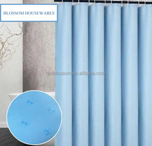 Luxury solid color jacquard diamonds shower curtain for hotel
