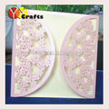 Hot sale unique paper lace new design laser cut butterfly shape wedding invitation card