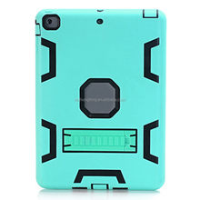 Shockproof Light Green Durable Stand Case TPU Back Cover Case for iPad Air