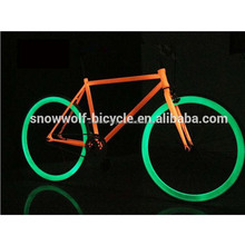 2016 china cheap 700C FIXED GEAR BICYCLE bike bicicletas glow in the dark bicycle SW-CB-M0421