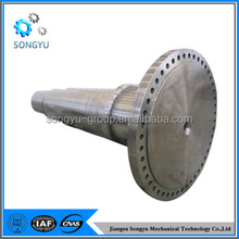 Mechanical spline shaft with sprocket for gearbox