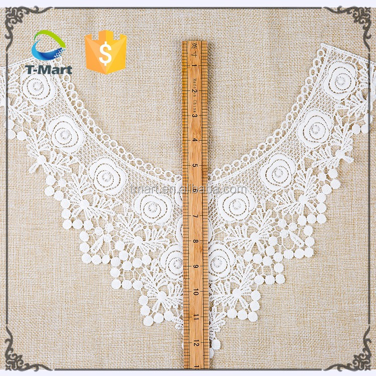 Fashion Embroidery Design neck cotton guipure crochet lace collar for dress