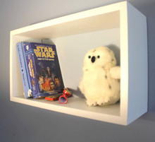 Floating Shelf - Cube Shaped - Great for Books and Pictures