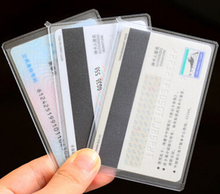 Transparent plastic soft pvc eva credit card protector sleeves