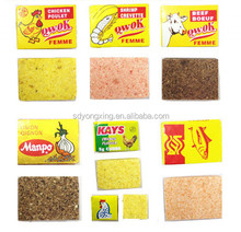 Bouillon cubes with different flavor, beef, ,shrimp,tomato, onion and curry flavor
