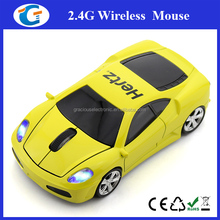2017 Newest Cool Cordless Mice Wireless Car Shaped Mouse With Head LED Light
