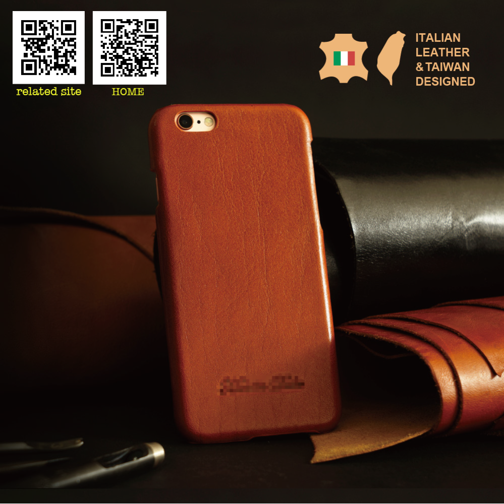 Luxury Handmade Custom Logo Genuine italian Leather phone case for i phone6 6s