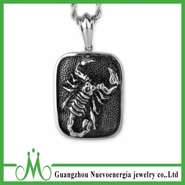 Wholesale Fashion Men's Charm Necklace Jewelry Stainless Steel Scorpion Pendant