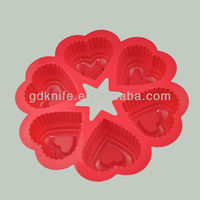 High quality 6 cups silicone cake mould,cake bakeware