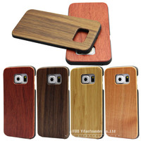 Real wood mobile phone accessories,for Samsung galaxy S6 Edge wood case cover