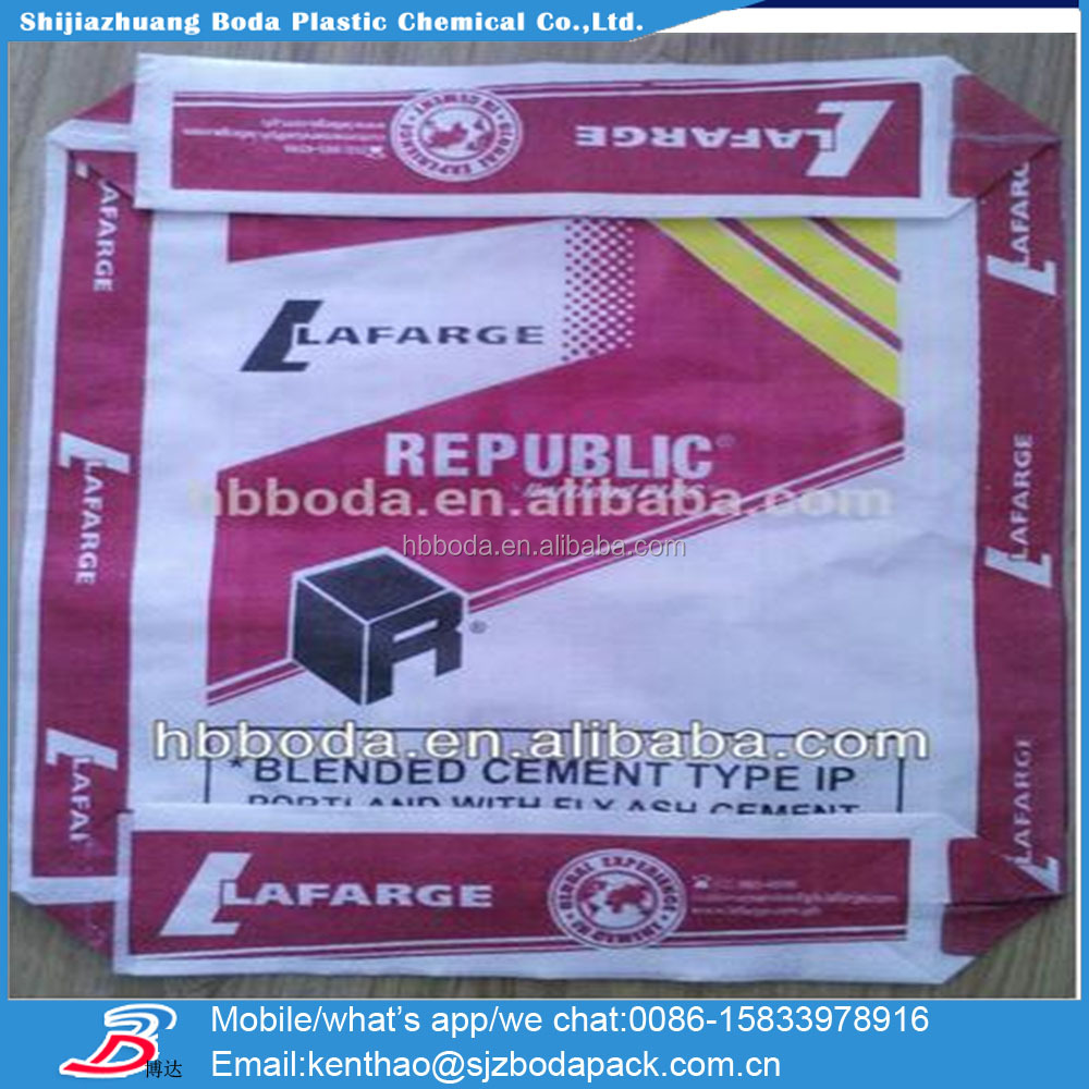 42.5R /32.5N OPC or PPC type 25kg,30kg,40kg,50kg square bottom plastic bag for cement