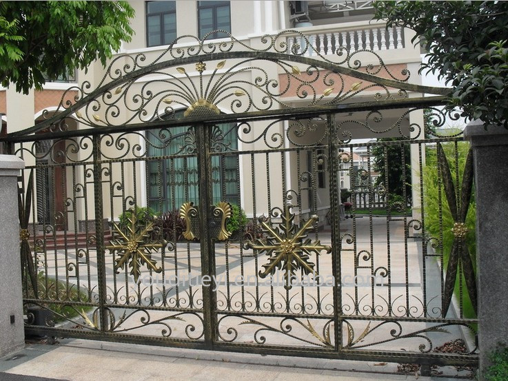 High Quality gate grill fence design/kinds of gate designs/house gate color