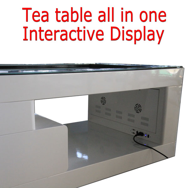 android interactive advertising lcd multi touch screen game display smart coffee bar table