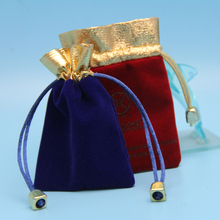 custom handmade small gift jewelry pouch with drawstring