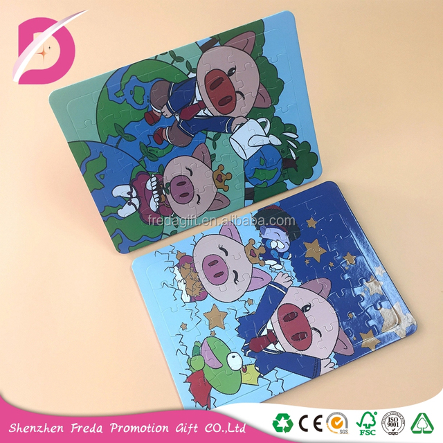 Hot sale cartoon animation jigsaw puzzle for fragment combination bauble