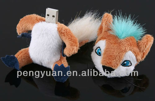 Fancy gift cyber fox USB flash drive for festival gift (PY-U-278)