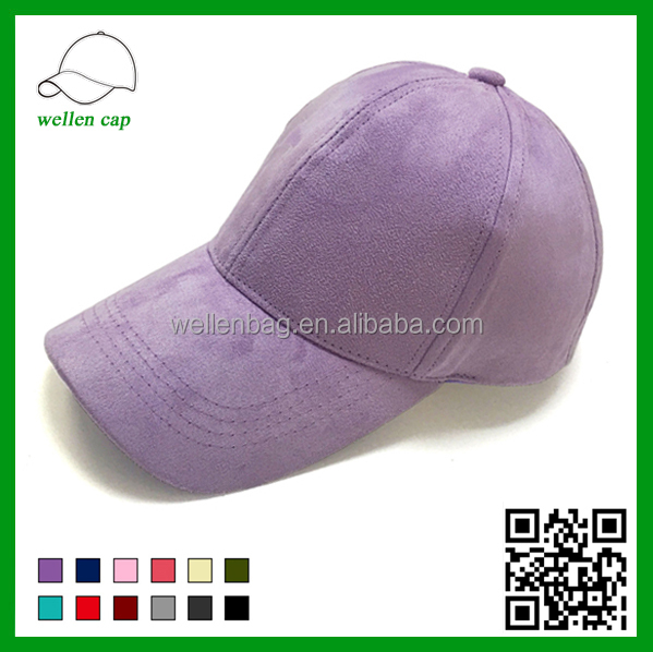 Exclusive customized design solid anti social social club 6 panel unstructured suede baseball cap for women men