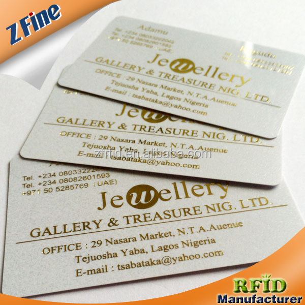 gold stamping plastic business card for printing machine