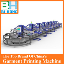 BH-T6s Multi Colors Automatic Rotary T shirt screen printing machine