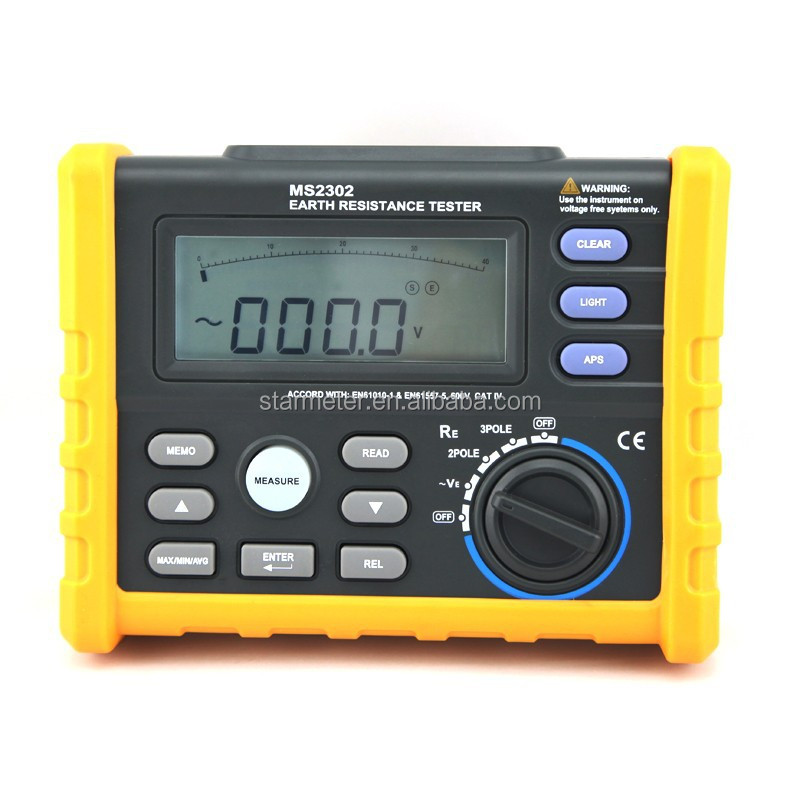MS2302 Digital Ground Earth Resistance Voltage Tester Meter