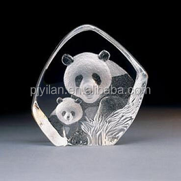 etched 3d laser engraving carved crystal running horse figurines iceberg model paperweight glass iceberg award