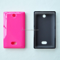New products 2014 TPU cell phone back cover case for Nokia Asha 500