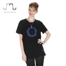 2017 Best Selling Design Girls Printed Black t Shirts for Wholesale