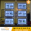 A4 A3 Real Estated LED Windows Display Double Side LED Magnetic Crystal Acrylic Light Box