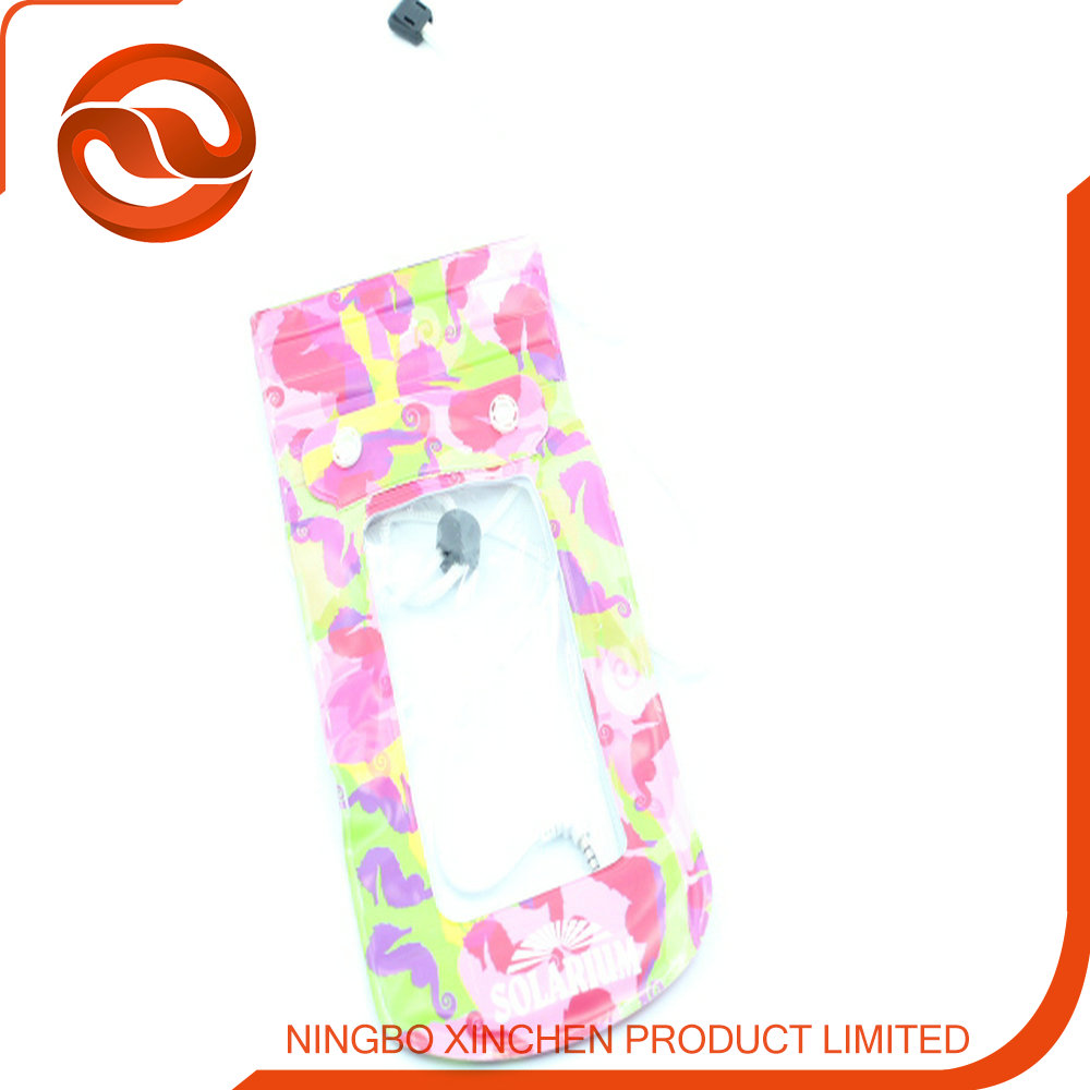 pvc universal waterproof phone bag for cell phone for girls