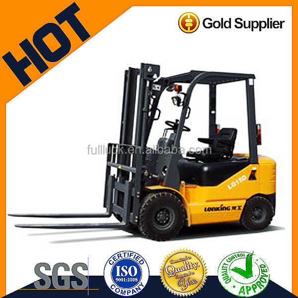 2017 Chinese 1.5 t forklift truck electric control/big sale forklift