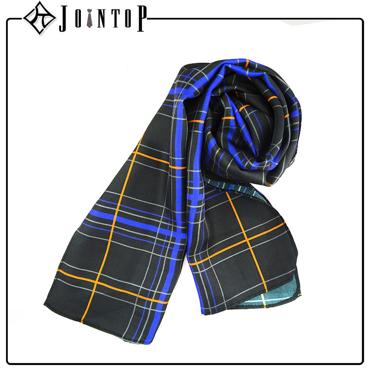Decoration high quality check scarf made in china
