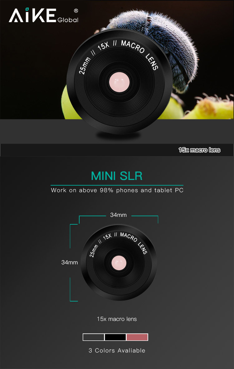 Super HD Cell Phone Camera Lens 15X Micro Lens Close-up Shot For Smartphone