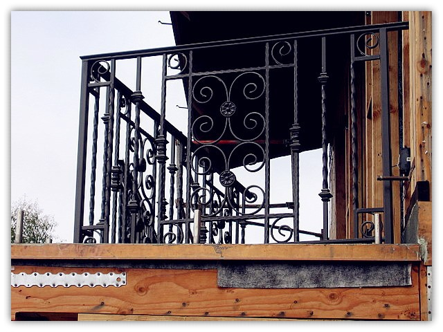 Indoor/outdoor cast iron balcony railing design for sale