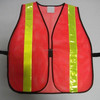 Red Mesh Safety Vest Roadway Warning