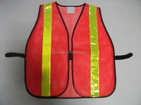 Red Mesh Safety Vest Roadway Warning Reflective Vest