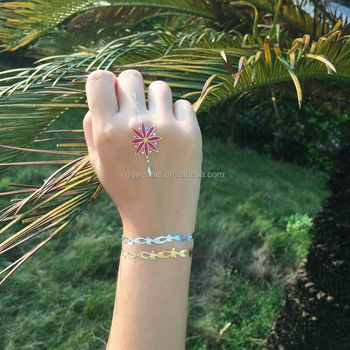 Metallic Temporary Tattoo Bracelets Party Tattoo Gold Foil Tattoo
