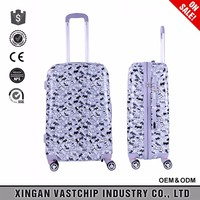 Leisure waterproof cute dogs pattern carry on luggage with wheel travel