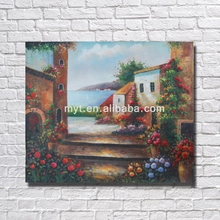 Nice Building On Sale Hot Painted Home Goods Oil Painting For Bedroom With Frame Art Work Home Decoration
