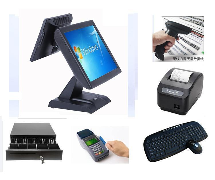 LKS-POS810D hot sale all in one dual screen touch pos terminal with 10 inch LCD customer display